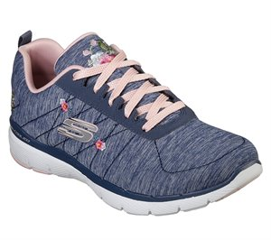 Pink Navy Skechers Flex Appeal 3.0 - In Blossom