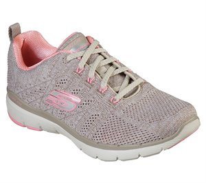 Pink Natural Skechers Flex Appeal 3.0 - High Tides