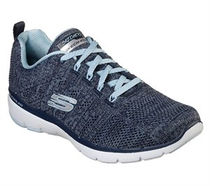 Blue Navy Skechers Flex Appeal 3.0 - High Tides