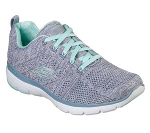 Gray Skechers Flex Appeal 3.0 - High Tides