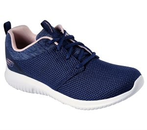 Pink Navy Skechers Ultra Flex - Leading Lady