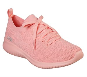 Coral Skechers Ultra Flex - Pastel Party