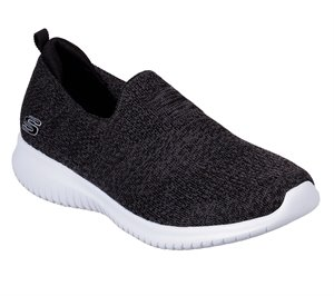White Black Skechers Ultra Flex - Harmonious