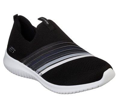 White Black Blue Skechers Ultra Flex - Brightful Day