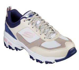 Navy Natural Skechers D'Lites - Fan Love