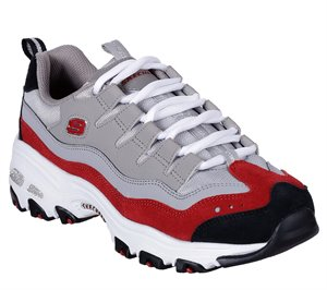 Red Gray Skechers DLites - Sure Thing