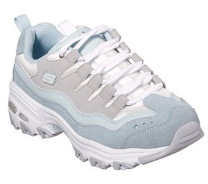 Gray Blue Skechers D'Lites - Sure Thing