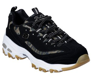 Brown Black Skechers DLites - Quick Leopard