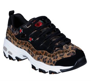 Multi Skechers D'Lites - Leopard Rose