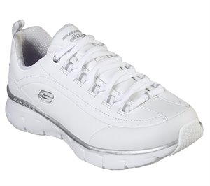 Silver White Skechers Synergy 3.0