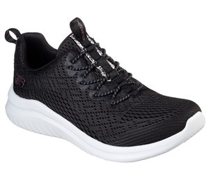 White Black Skechers Ultra Flex 2.0 - Lite-Groove