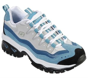 White Blue Skechers Energy - Wave Linxe