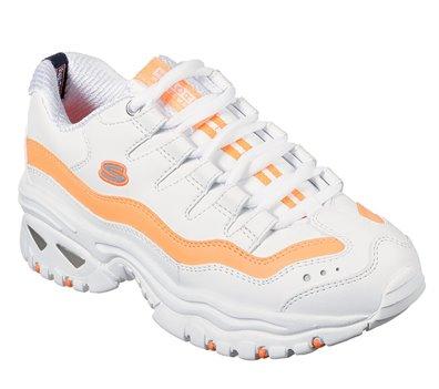 Orange White Skechers Energy - Over Joy
