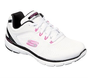 Pink White Skechers Flex Appeal 3.0 - Steady