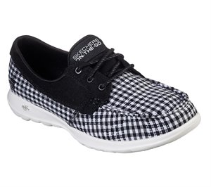 White Black Skechers Skechers GOwalk Lite - By the Sea - FINAL SALE