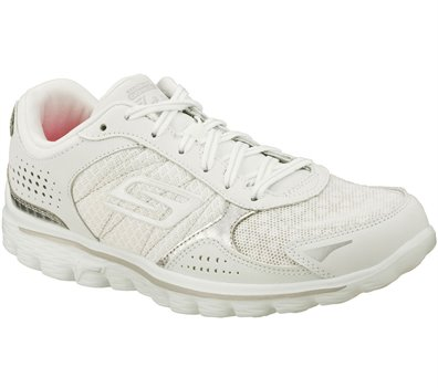 Skechers Skechers GOwalk 2 Flash Furry in SilverWhite