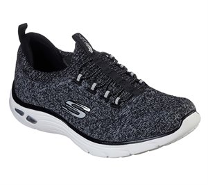 White Black Skechers Relaxed Fit: Empire D'Lux - Sharp Witted