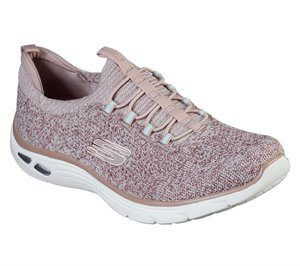 Pink Skechers Relaxed Fit: Empire D'Lux - Sharp Witted
