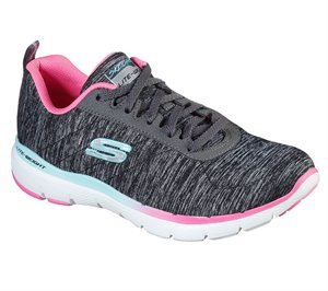 Multi Black Skechers Flex Appeal 3.0 - Fan Craze