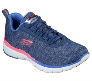 Multi Navy Skechers Flex Appeal 3.0 - Fan Craze