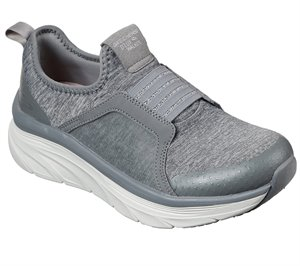 Gray Skechers Relaxed Fit: D'Lux Walker - Cotton Sunset