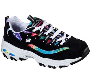Multi Black Skechers D'Lites - Summer Fiesta
