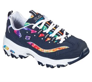 Multi Navy Skechers D'Lites - Summer Fiesta