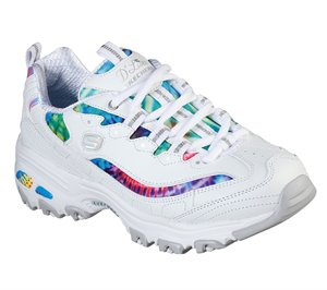 Multi White Skechers D'Lites - Summer Fiesta