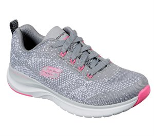 Pink Gray Skechers Ultra Groove