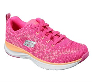 Orange Pink Skechers Ultra Groove