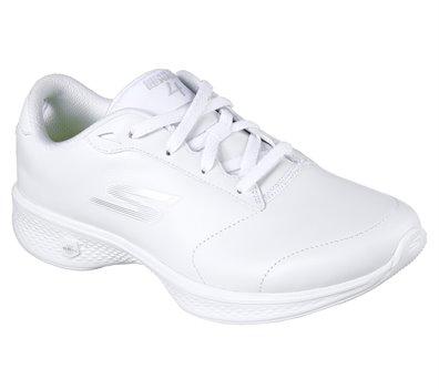 skechers go walk white shoes