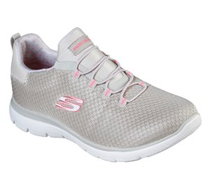 Pink Natural Skechers Summits - Polka Dance - FINAL SALE