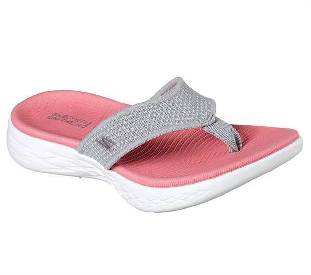 grey and pink ladies skechers