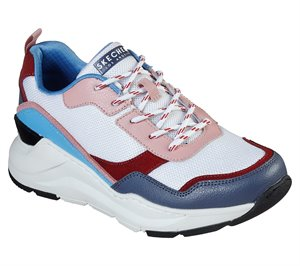 Blue White Skechers Rovina - Chic Shattering - FINAL SALE