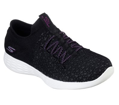 Purple Black Skechers YOU Define - Beauty