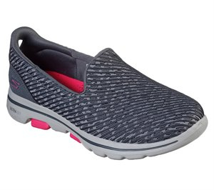 Pink Gray Skechers Skechers GOwalk 5 - Miracle