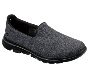 Gray Black Skechers Skechers GOwalk 5 - Super Sock