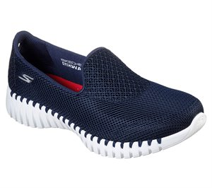 White Navy Skechers GOwalk Smart