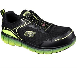 Green Black Skechers Work: Telfin - Rieg Comp Toe - FINAL SALE