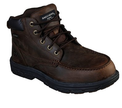 Brown Skechers Work Relaxed Fit: Vickburk ST