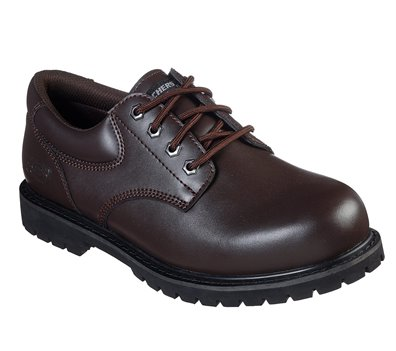Brown Skechers Work Relaxed Fit: Cottonwood - Vorbeck SR - FINAL SALE