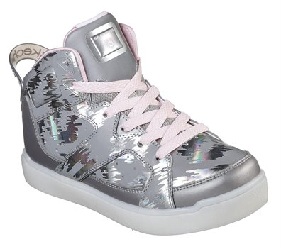 Silver Skechers S Lights: Energy Lights E-Pro - Reflecti-Fab