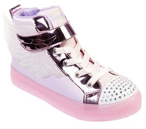 Pink Skechers Twinkle Toes: Shuffle Brights - Sparkle Wings