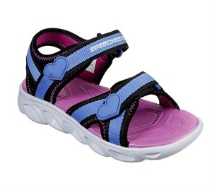 Blue Black Skechers S Lights: Hypno-Splash - Splash Zooms