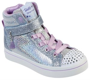 Silver Blue Skechers Twinkle Toes: Twi-Lites - Holla-Glam