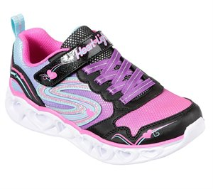 Multi Black Skechers S Lights: Heart Lights - Love Spark
