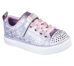 Pink Purple Skechers Twinkle Toes: Twinkle Breeze 2.0 - Unicorn Magic
