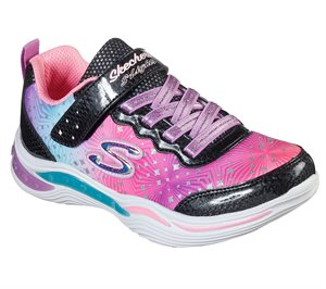 Multi Black Skechers S Lights: Power Petals - Painted Daisy