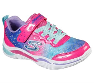 Multi Pink Skechers S Lights: Power Petals - Painted Daisy