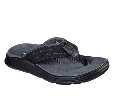 Black Skechers Relaxed Fit: Sargo - Reyon